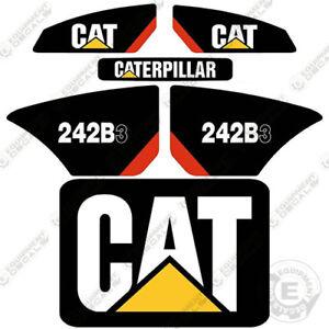 Caterpillar 242 B-3 Kit de Pegatinas Minicargadora Equipamiento Calcamonías