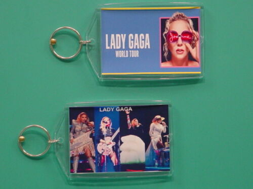 LADY GAGA Joanne World Tour with 2 Photos Collectible GIFT Keychain 06