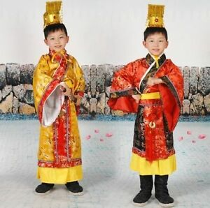 Chinese-Boy-039-s-Han-Clothing-Emperor-Prince-Show-Cosplay-Suit-Robe-Costume