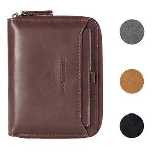 Men-039-s-Zipper-Faux-Leather-ID-Credit-Card-Wallet-Holder-Billfold-Purse-Clutch