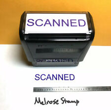New Listingscanned Rubber Stamp Purple Ink Self Inking Ideal 4913