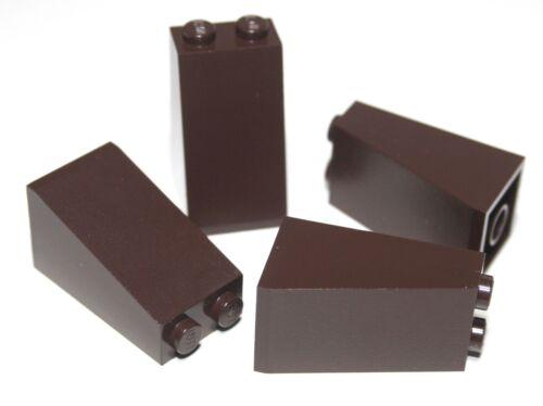 4x LEGO®  Schräg-// Dachstein 75° 2x2x3 3684 NEU Dunkelbraun Dark Brown