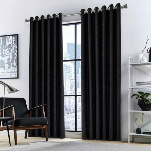 Ring Top Curtains Bedroom Living Room Heavy Thermal Insulated Blackout Eyelet