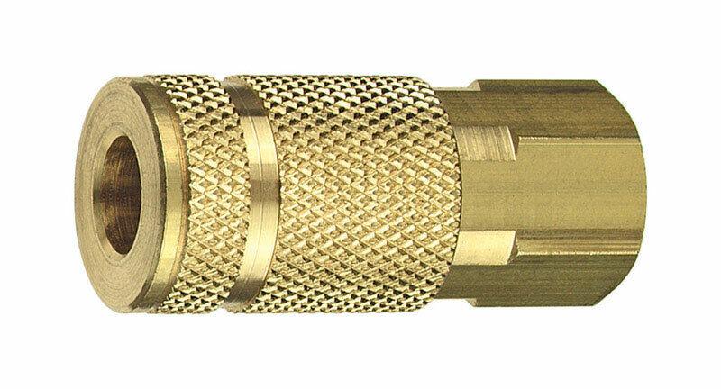 Tru-Flate  Brass  Coupler  1 4 in. Female  1 pc.
