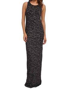 Diesel-d-ria-Abito-Women-Dress-Maxi-Dress-Ribbed-Grey