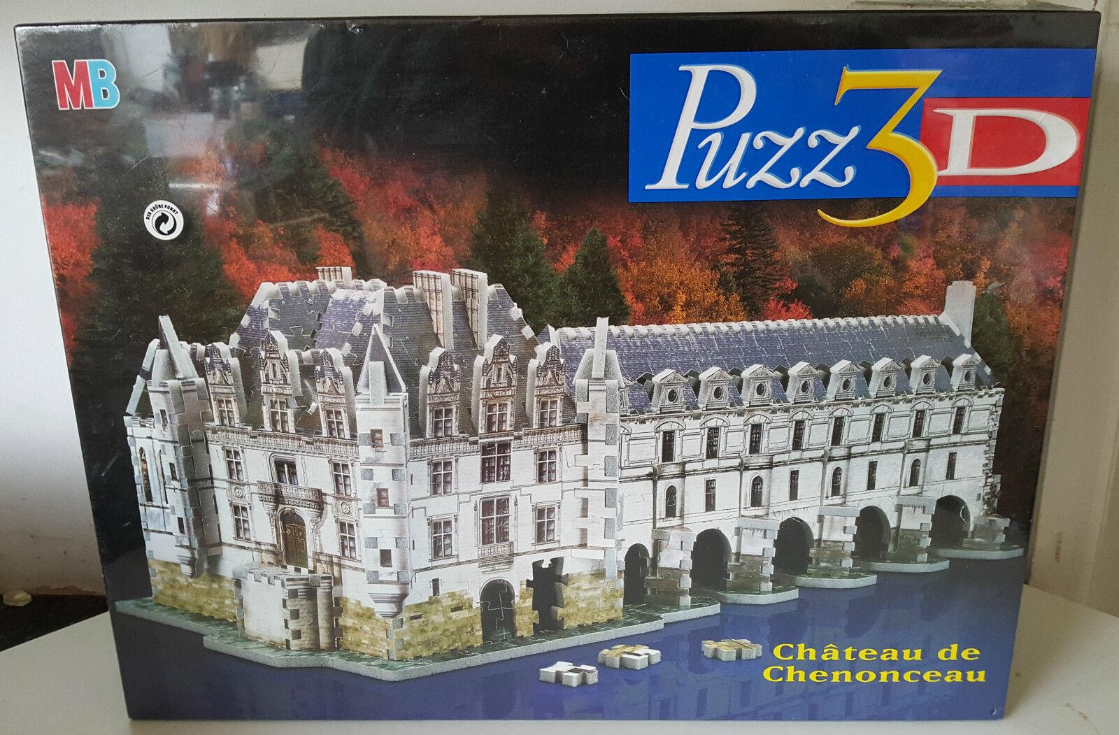 Challenging Puzz 3D Chateau de Chenonceau Puzzle 806 Piece NEW 1996 MB Games