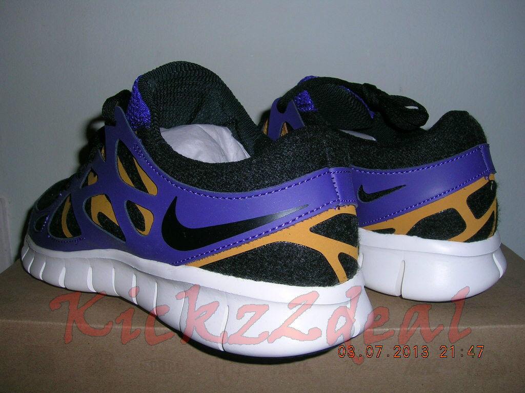 NEW WMNS NIKE FREE RUN+ 2 EXT EXT EXT Running shoes SZ 6 7.5 Black Purple 536746-015 5bd2d4