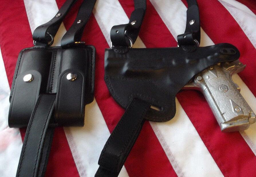 J&j Personalizado formado Colt plataforma de hombro de cuero superior horizontal funda negro