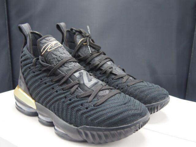 6d14516ae1b66 Nike Lebron XVI I'm King Black Metallic Gold Bq5969 007 Men's Size 9 ...