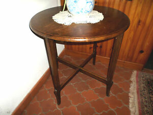 Table D Appoint Ronde Console Guéridon Bois Massif Ebay