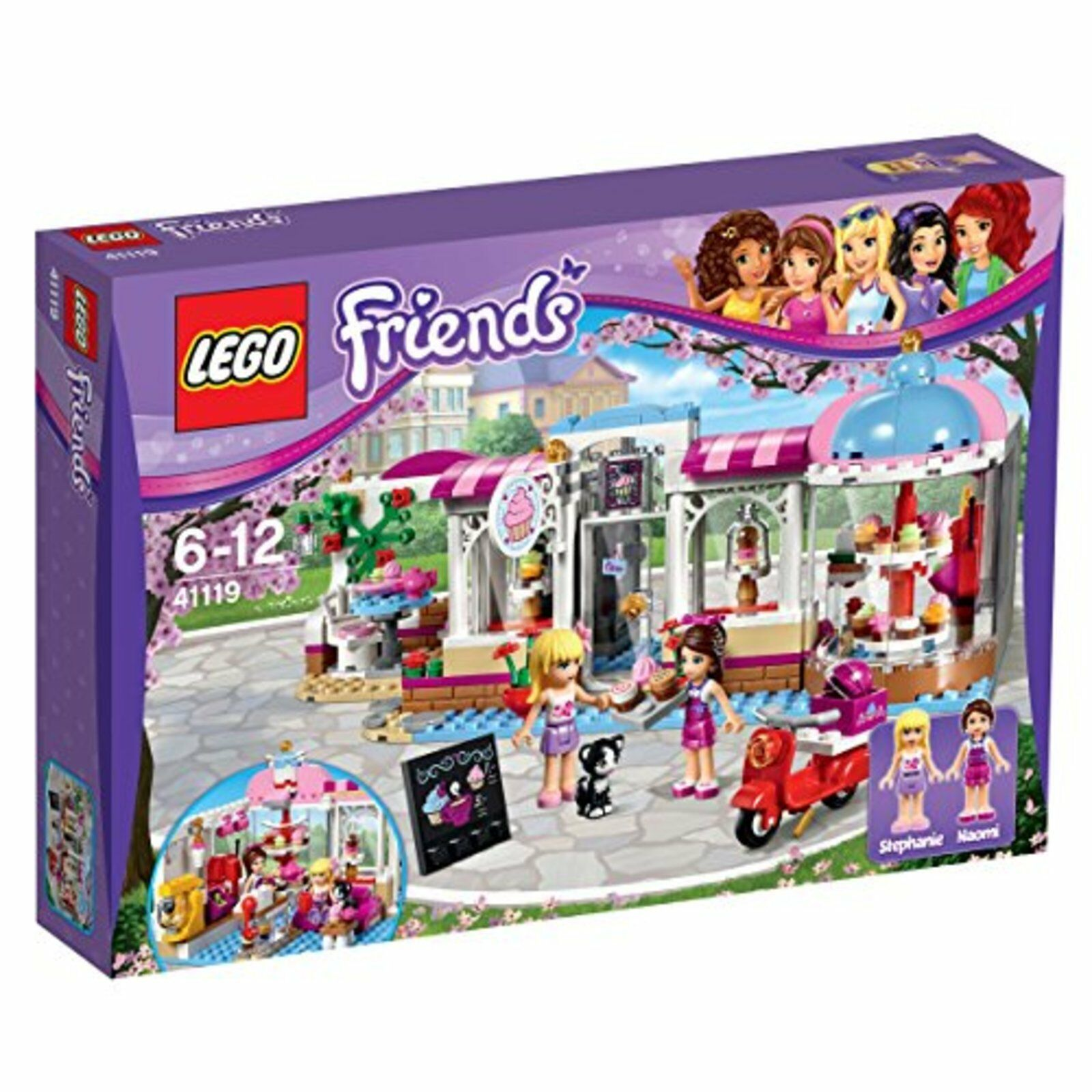 Lego Amigos Cupcakes Café 41119 con Seguimiento Nuevo de Japón