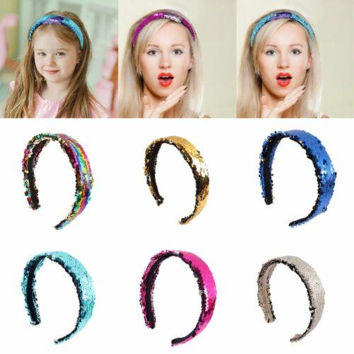 Glittering Women Headband Birthday Party Hair Bands Sequins Head Hoop