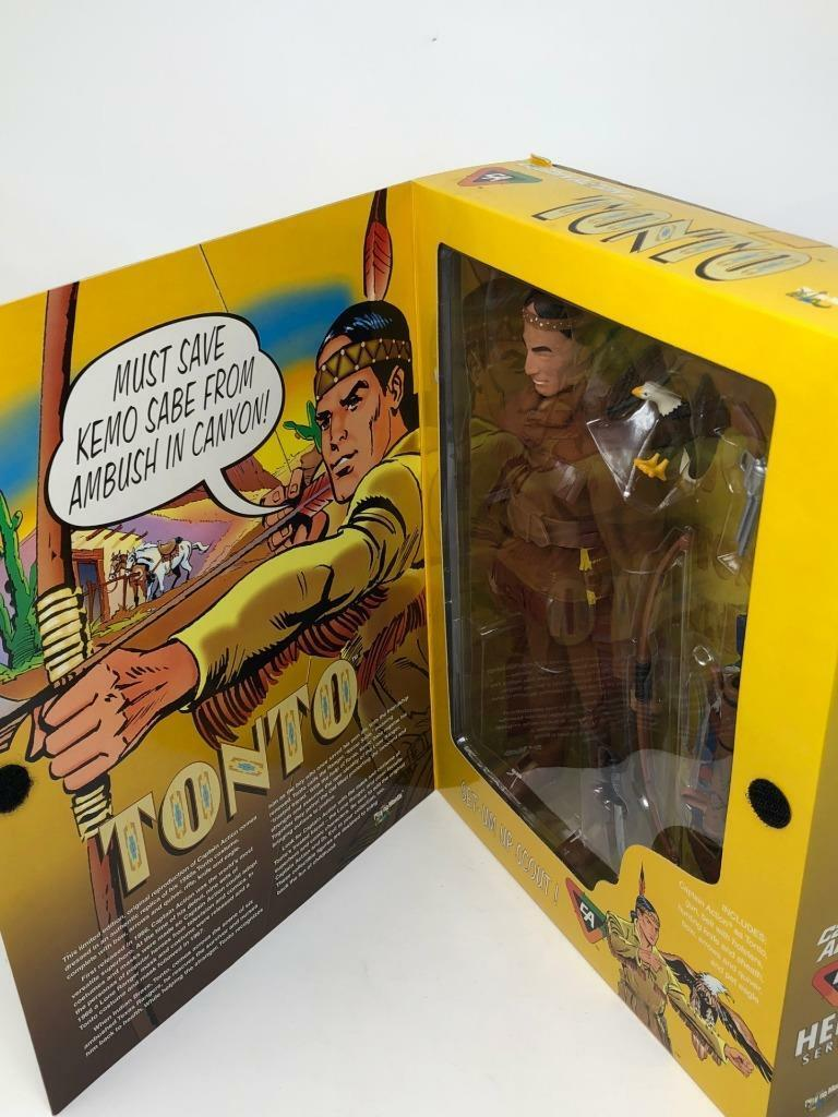 Captain America as as as Tonto with Accessories by Playing Mantis  New & Sealed  Rare 067b13