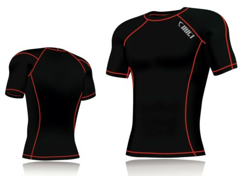New Mens Compression Armour Base Layer Top Half Sleeve Thermal Gym Sports Shirt