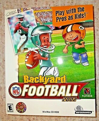 Backyard Football 2002 PC Game NEW Factory Sealed In ...