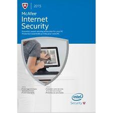 McAfee Internet Security NEW 2015 3 USERS AntiVirus UK Download