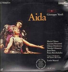 Aida  G.Verdi LASERDISC DOPPIO  Pavarotti - Maazel  Nuovo Sigillato Raro