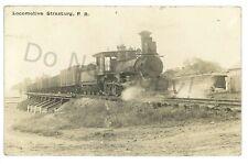 RPPC Locomotive Train STRASBURG RAILROAD PA Lancaster County Real Photo Postcard