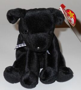 2cb343a4f06 NMT  Ty Beanie Baby ~ LUKE the Black Lab Dog (6 Inch) MWCT