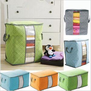 Foldable-Storage-Bag-Clothes-Blanket-Quilt-Closet-Sweater-Organizer-Box-PoucheLN