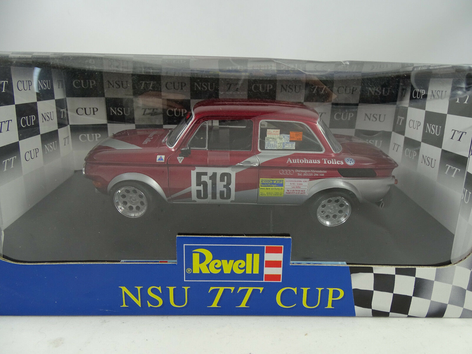 1 18 Revell  08458 NSU TT CUP RACING  513 W. Fassbender-RARE NEUF §