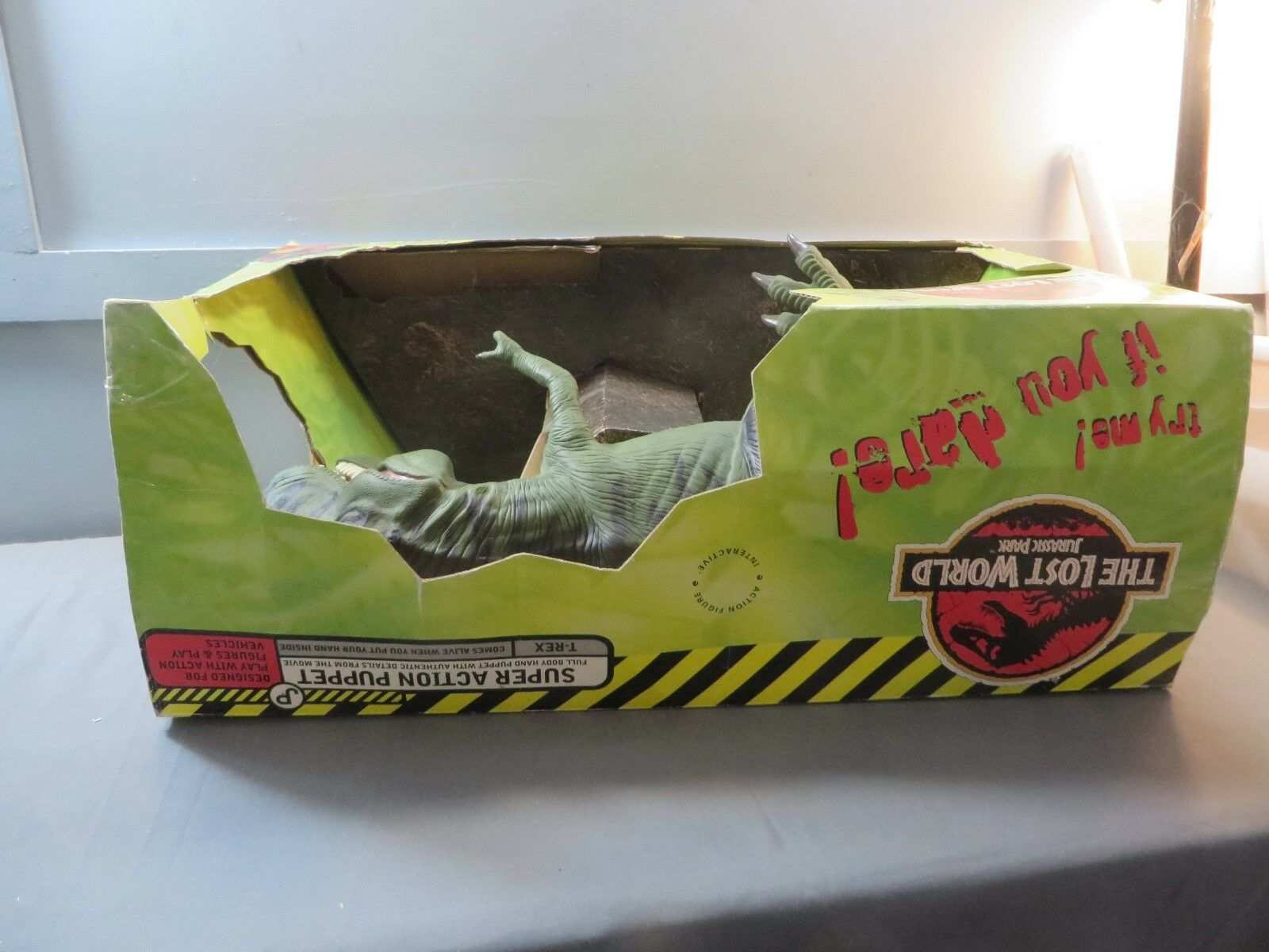 Resaurus Jurassic Park The The The Lost World Super azione Puppet T-Rex NRFB 753018