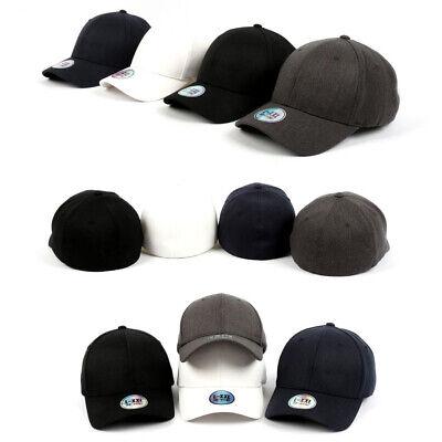 XL~2XL Big Unisex Mens Plain Flexfit Hat Solid Stretch Fit Baseball Spandex Caps