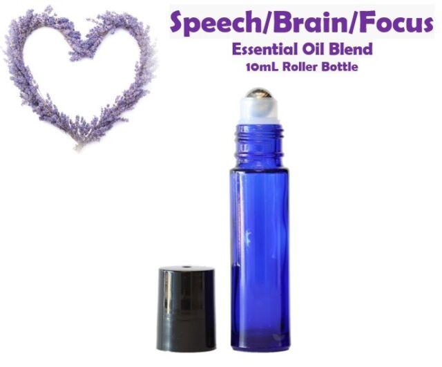 SPEECH/BRAIN/FOCUS Blend Essential Oil in 10mL ROLLER BOTTLE FREE SHIP!!