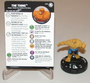 The Thing #036 Rare M//NM with Card Marvel Fantastic Four HeroClix