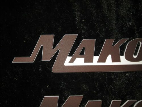 "SINGLE Large 3/"" High Mako Boat Emblems // Badges"