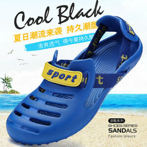 1bd53f9492e3 Mens Slip on Clogs Slippers Boat Shoes Sandals Sport Fishing Beach ...