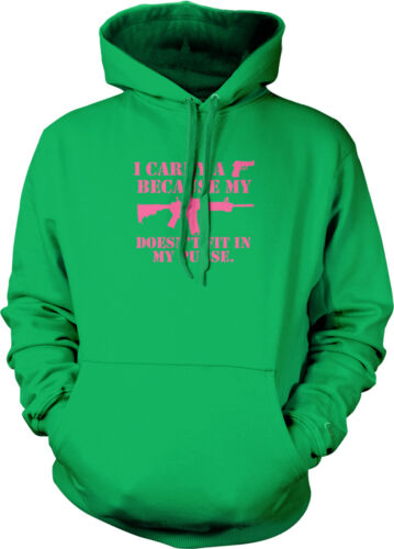 Carry Handgun Because Rifle Doesn't Fit In My Purse Pro-gun Hoodie Pullover
