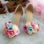 Womens-Pointy-Toe-Transparent-Stilettos-High-Heel-Floral-Shoes-Pump-Sandals-Flat thumbnail 8