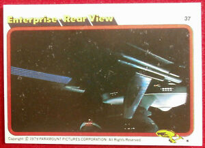 STAR TREK - MOVIE - Card #37 - ENTERPRISE REAR VIEW - TOPPS 1979