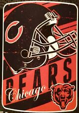 "Chicago Bears NFL Helmet Logo 46"" x 60"" Soft Fleece Blanket"