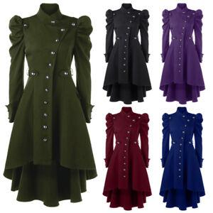 Womens-Vintage-Steampunk-Long-Coat-Gothic-Victorian-Overcoat-Ladies-Retro-Jacket