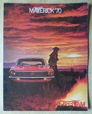 FORD MAVERICK orig 1970 USA Mkt sales brochure