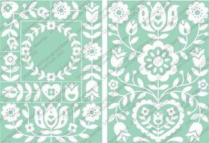 Cuttlebug-Repositionable-Embossing-Plates-Floral-Folk-Art-2001392
