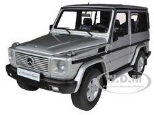 1998 MERCEDES G500 G CLASS SWB SILVER 1/18 DIECAST CAR MODEL BY AUTOART 76112