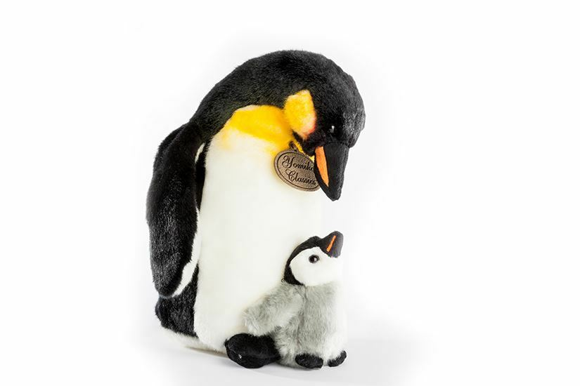 Yomiko Classic Penguin Mom and Baby 12.5  Stuffed Animal by Russ Berrie