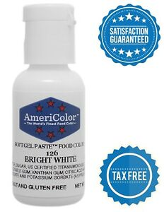 Details about AmeriColor Food Coloring Bright White Soft Gel Paste Royal  Icing Cake Fondant