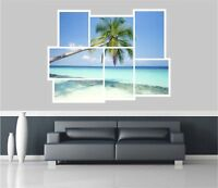 Huge Collage View Exotic Beach Wall Stickers Mural Decal Wallpaper 92