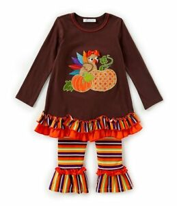 77e2d75fe6bc5 Image is loading Bonnie-Jean-Baby-Girls-Thanksgiving-Brown-Ribbon-Turkey-