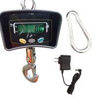 Crane Digital 500kg 110lbs Hanging Industrial Weight Scale Lcd Display Black Us