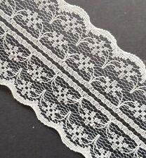 White Cotton Lace Ribbon 15mm x 20m Vintage Wedding Bridal Craft