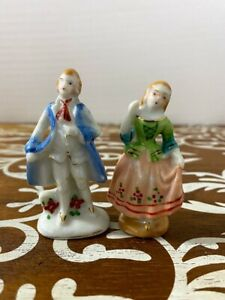 Two Occupied Japan Vintage Porcelain Couples Hand Painted Figurines Ebay