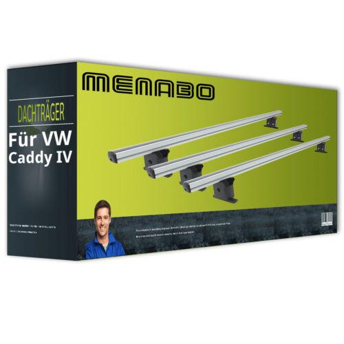 Menabo Professional + EBA Alu Dachträger für VW Caddy IV Typ SAA//SAB kpl