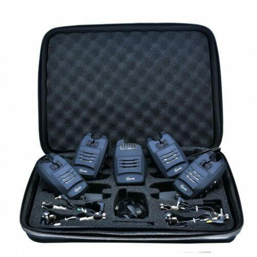 4 Swinger Elektronische Bissanzeiger Set 4 LED Alarm 1 Empfänger Koffer