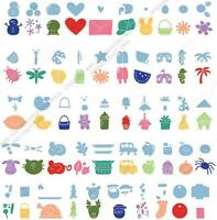 Cricut Doodlecharms Shapes Cartridge All Occasion Charms, Borders, Tags