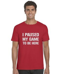 I-Paused-My-Game-To-Be-Here-Kids-T-Shirt-Ages-3-13-Tee-Top